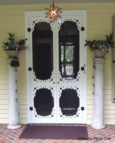 Vintage double screen door