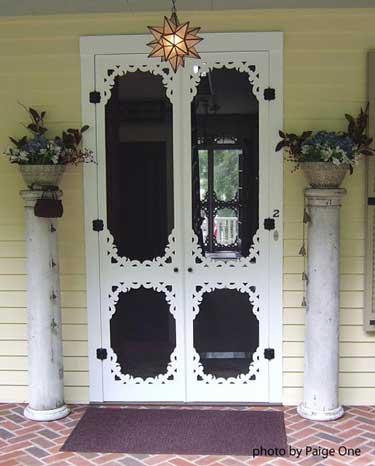 Vintage double screen door