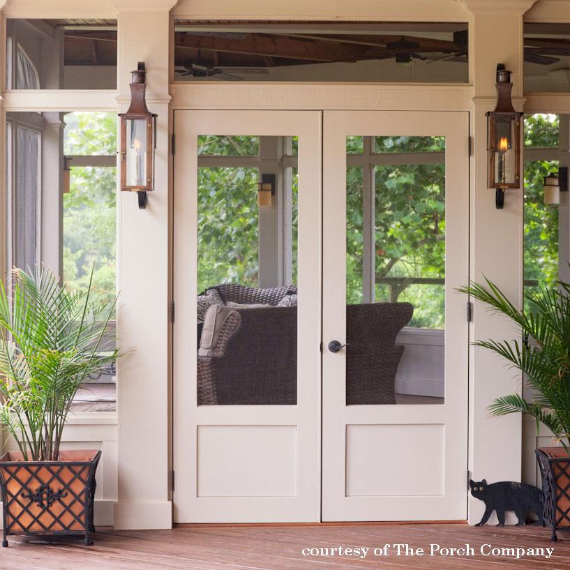 beautiful wooden screen door
