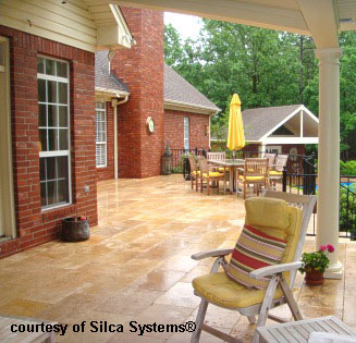 wood to stone decking system