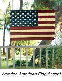 wooden flag accent piece