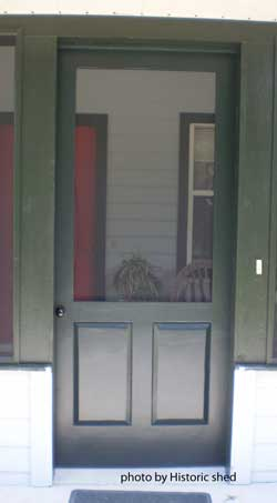 screen door with solid wood bottom half