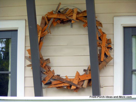 wooden wreath for front porch