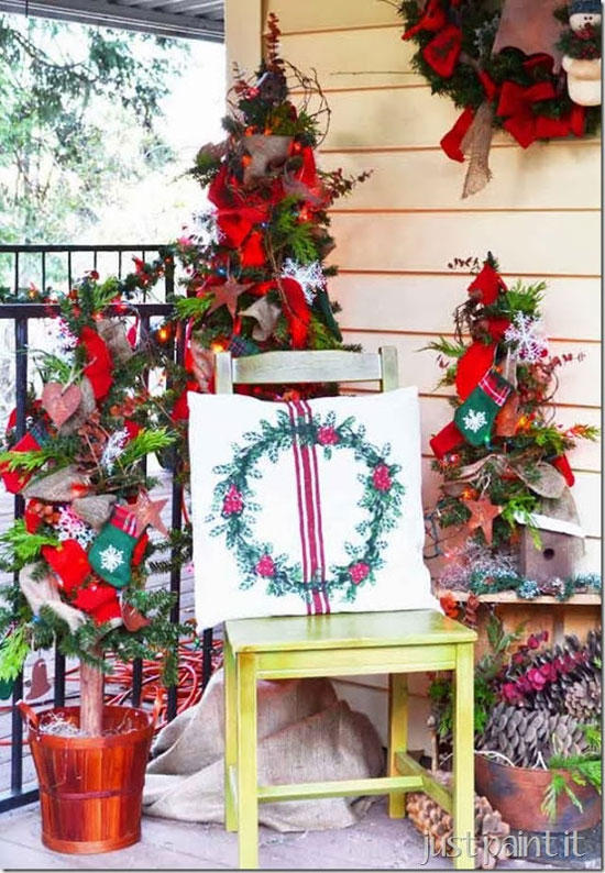 Just Paint It - Colleen's porch with a woodland theme