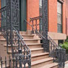 wrought iron railings on front porch
