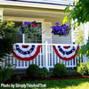 patriotic bunting on front porch