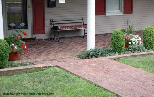 brick porch floor