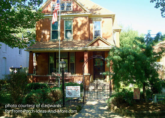 historical home with craftsman columns on front porch