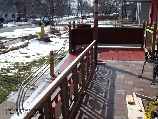 wheelchair ramp with steel railings