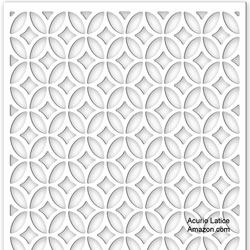 Acurio Lattice Moors Ellipses Outdoor Decor Panel