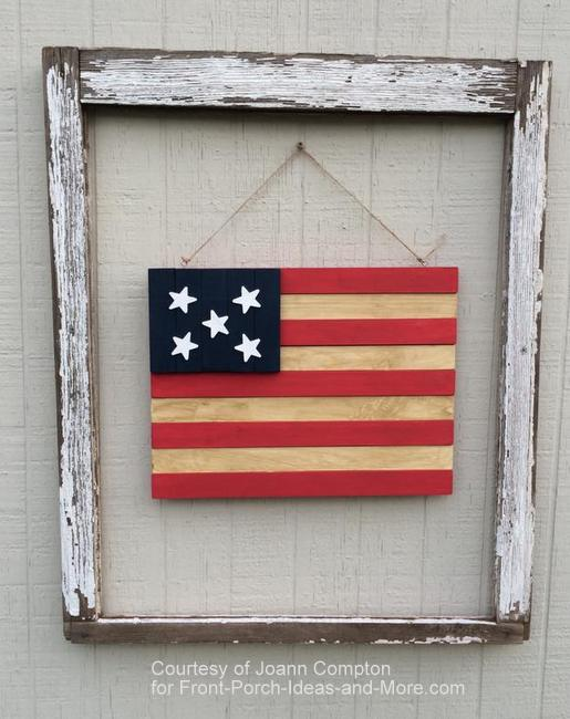 Americana flag made by one of our readers, Joann