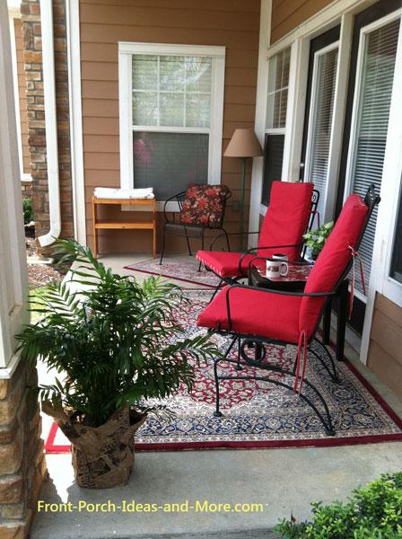 Out little apartment porch before autumn decorating