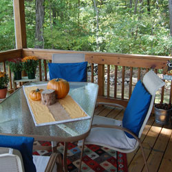 autumn back porch ideas