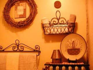 bathroom in gold tones