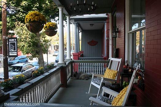 cozy front porch respite