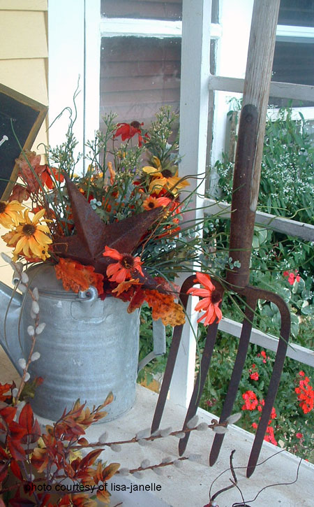 pitchfork added into autumn display