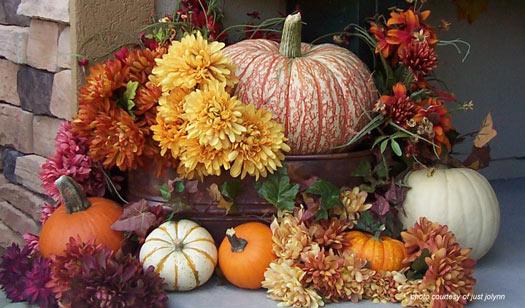 beautiful autumn pumpkin display