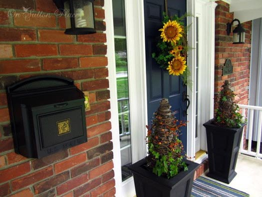 Ann's autumn decorated front porch