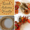 easy to make autumn wreath