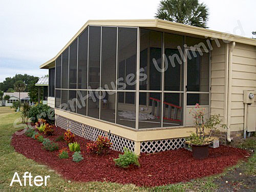 A screen porch kit is a great way to make a porch enclosure back porch with screen wall kit added solutioingenieria