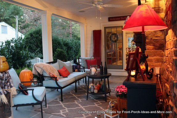 Cindy's back porch is cozy and inviting