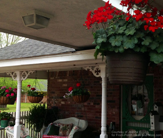 My back porch is a relaxing place to be! Notice the gingerbread brackets.