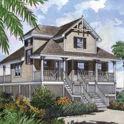 Beach home plan floor plan  by Family Home Plans