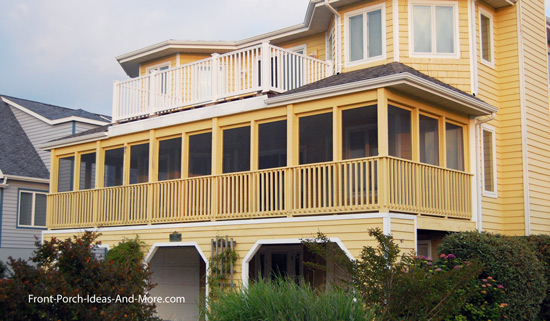 screened in porch on beach house in Lewes DE
