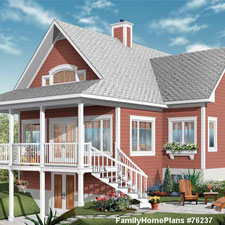 beach house plan with nice front porch
