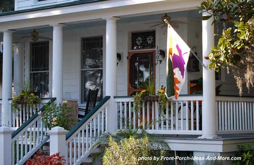 a quaint southern front porch made for sipping lemonade