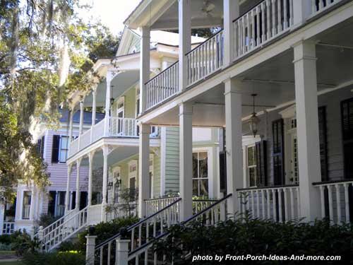 Beaufort SC double front porches
