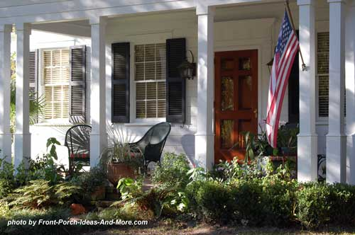 ideal landscaping front porch