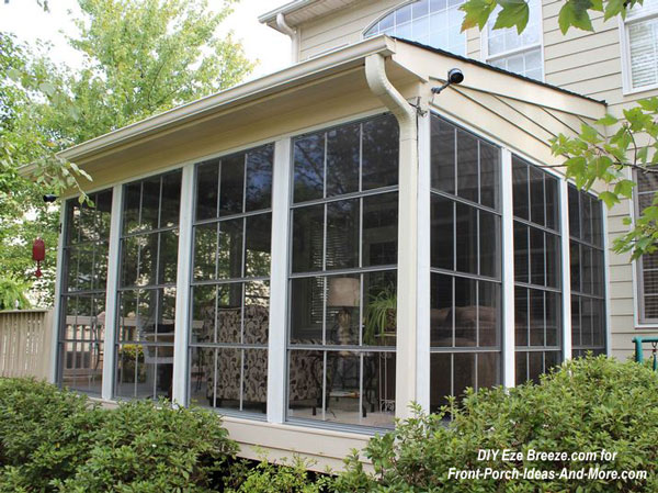 Screen porch panels turn a screened porch into a 3 season room