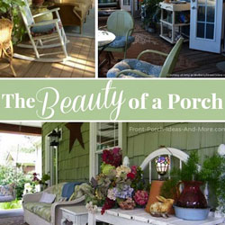 collage of front porches