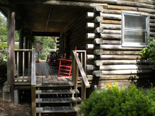 log cabin porch in Blowing Rock NC porch