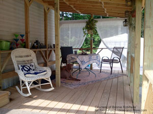 furnished mobile home front porch addition