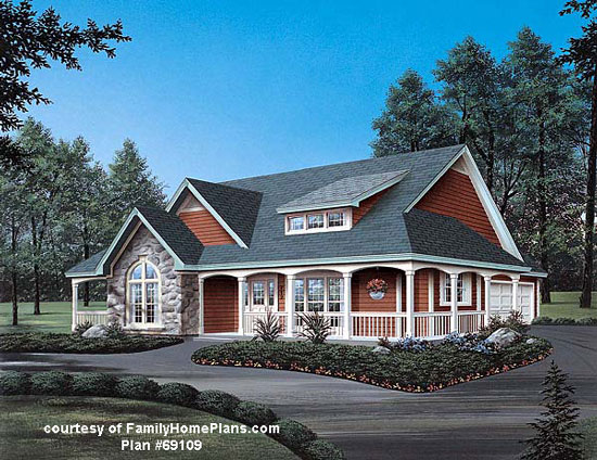 Downsized home plan from Family Home Plans #69109