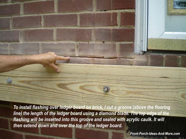 Brick Flashing Ledger Flashing Install Flashing