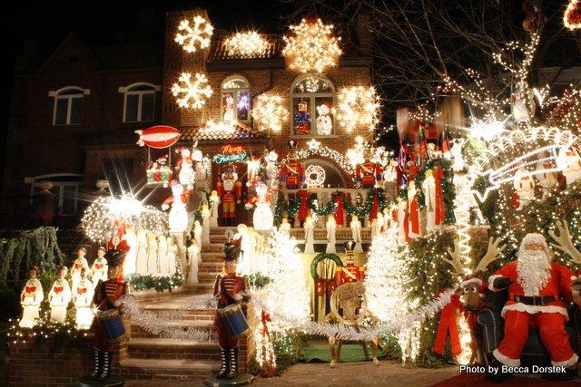 Extravagant Booklyn Christmas light display