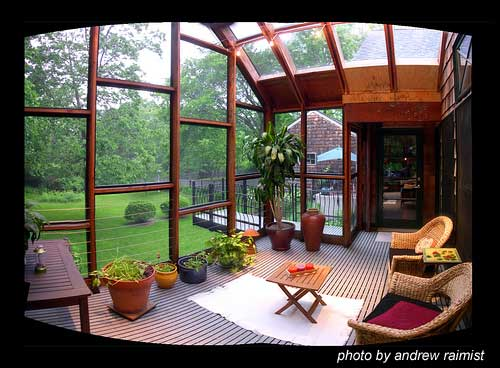 contemporary screen porch addition