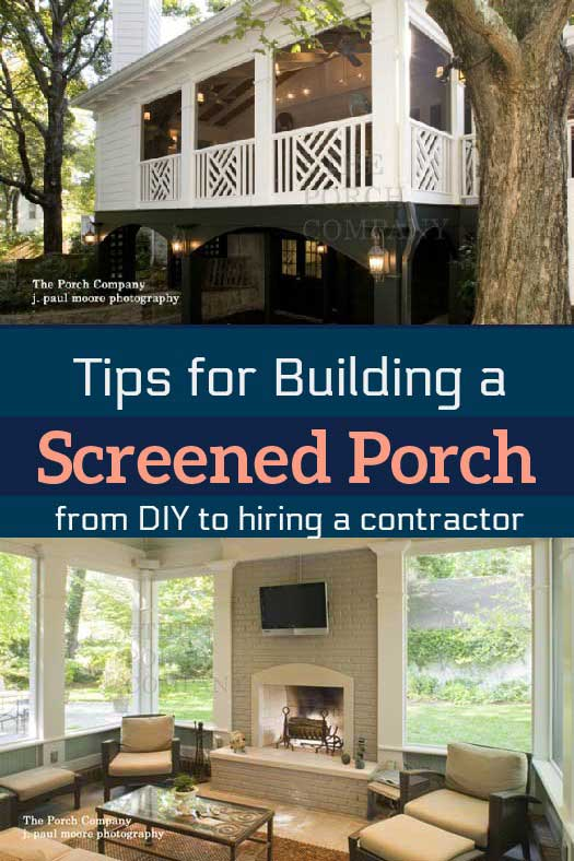 Tips for building a screened porch