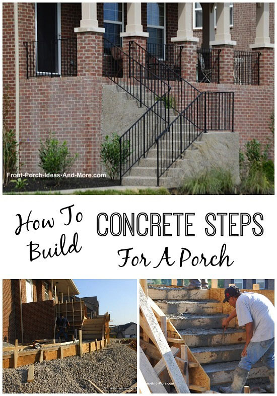 concrete steps on attractive front porch