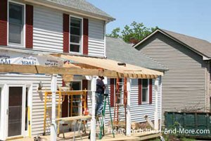 building rafters for new front porch
