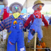 two porch scarecrows