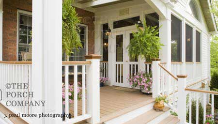 porch with an attached enclosed porch