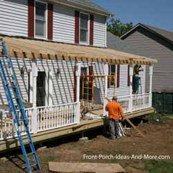 framers building a front porch