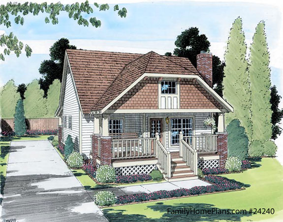 Bungalow floor plan family home plans number 24240
