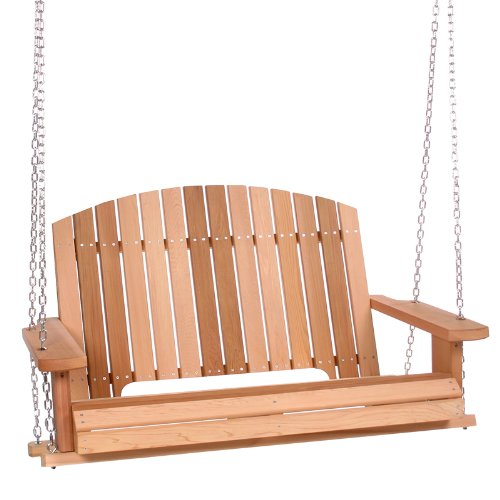 Classic cedar adirondack porch swing at amazon.com