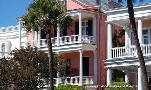 Charleston porch in luscious color