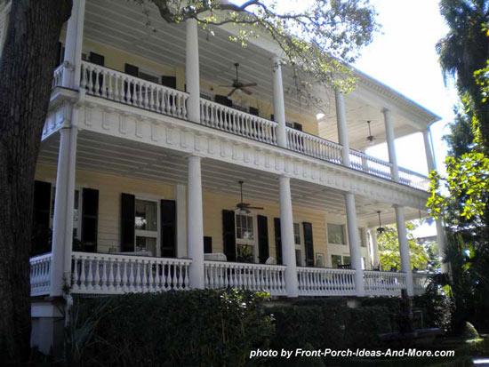 large charleston side porches